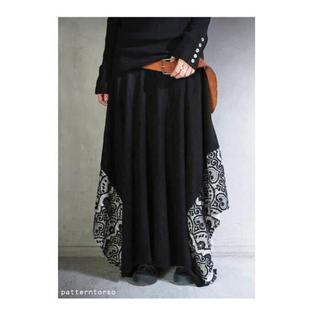 アンティカ(antiqua)の新品 アンティカ  レース変形スカート(ロングスカート)