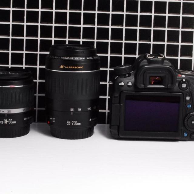 Canon(キヤノン)の【美品】Canon EOS 70D レンズ セット  スマホ/家電/カメラのカメラ(デジタル一眼)の商品写真
