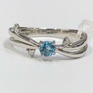 K10WG ブルートパーズ ダイヤモンド リング(リング(指輪))