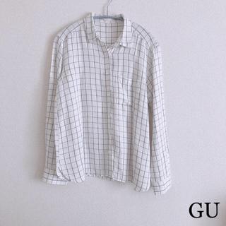 ジーユー(GU)の【中古 美品】GU チェックシャツ(シャツ/ブラウス(長袖/七分))