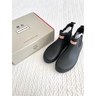 ハンター(HUNTER)のHUNTERハンター■黒 ショートレインブーツ UK6(レインブーツ/長靴)