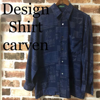 カルヴェン(CARVEN)の[ CARVEN ] カルヴェン 総柄 幾何学 ポリシャツ 柄シャツ デザイン(シャツ)