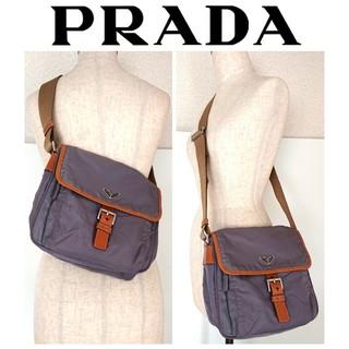 5c59cf739d30 プラダ(PRADA)の正規 プラダ 斜め掛け ナイロン ショルダーバッグ グレー レディース メンズ(