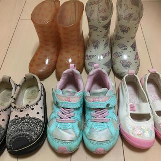 スーパースター(SUPERSTAR)の16cm キッズ 女の子 上靴 長靴 スニーカー スリッポン 5足セット(長靴/レインシューズ)