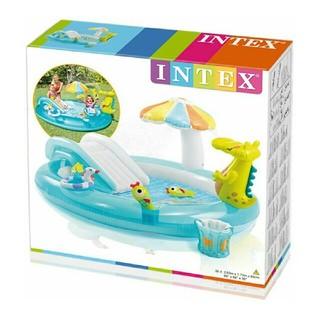 INTEX社製、ワニをモチーフにした幼児用プレイセンタープール。(プール)