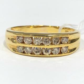 K18 シャンパンブラウンダイヤモンド リング 0.50ct(リング(指輪))
