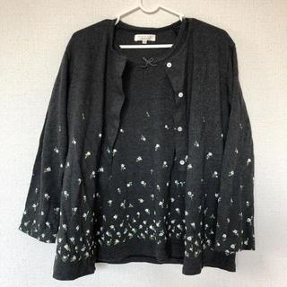 ナルエー(narue)の2枚セット カーディガン ロンT(Tシャツ(長袖/七分))