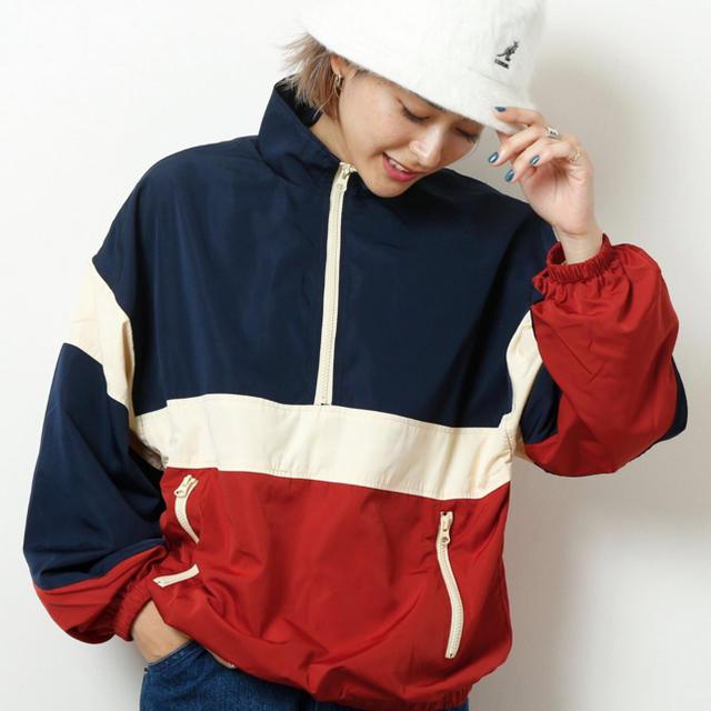 DOUBLE NAME(ダブルネーム)のダブルネーム 配色アノラック レディースのジャケット/アウター(その他)の商品写真