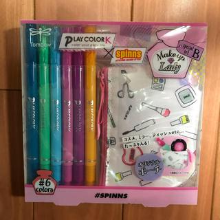 トンボエンピツ(トンボ鉛筆)のプレイカラーK×spinns   水性サインペン6本、ポーチセット(ペン/マーカー)