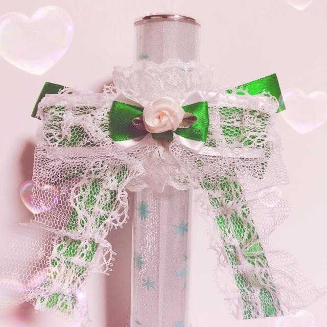 キンブレ リボン 緑 エンタメ/ホビーのタレントグッズ(アイドルグッズ)の商品写真