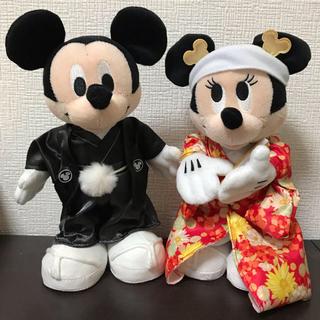 ディズニー(Disney)のウェルカムドール 和装 ミッキー ミニー ディズニー 23cm(ウェルカムボード)