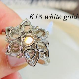 【K18 WG】ダイヤモンド リング ミックスカット(リング(指輪))