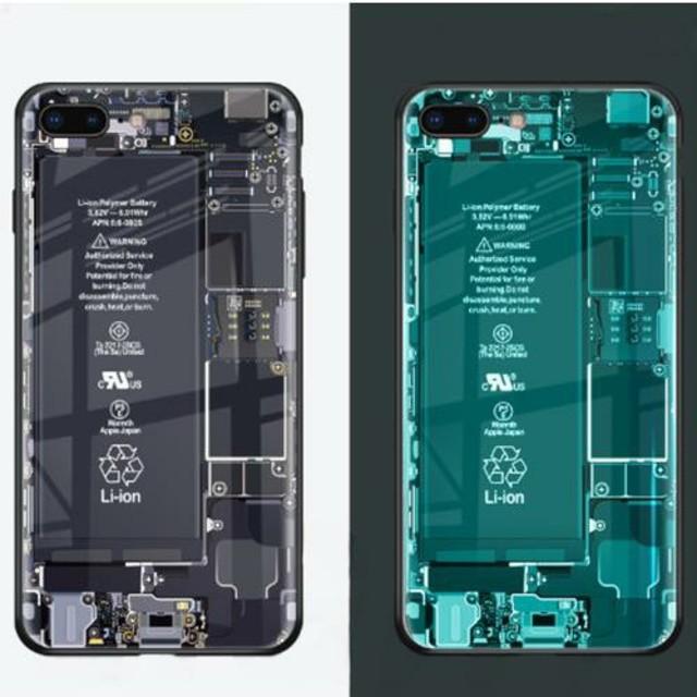 Iphoneチェーンケース | スケルトン基盤iPhoneケースの通販 by すなふきん's shop|ラクマ