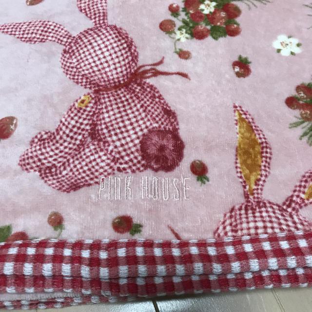 PINK HOUSE(ピンクハウス)のピンクハウス  新品未使用 タオルケット  インテリア/住まい/日用品の寝具(その他)の商品写真