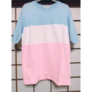 ハイドアンドシーク(HIDE AND SEEK)のHIDE AND SEEK ミルキーカラーブロックトップス (Tシャツ(半袖/袖なし))