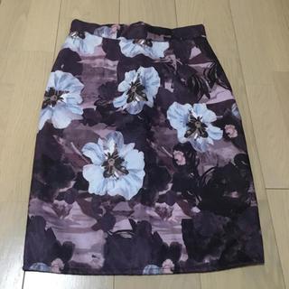 カラー(Color)のcolor フラワープリント タイトスカート(ひざ丈スカート)