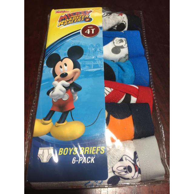 Disney(ディズニー)の新品未開封♡男の子パンツ♡ディズニー♡ミッキー♡6枚セット キッズ/ベビー/マタニティのキッズ服 男の子用(90cm~)(下着)の商品写真