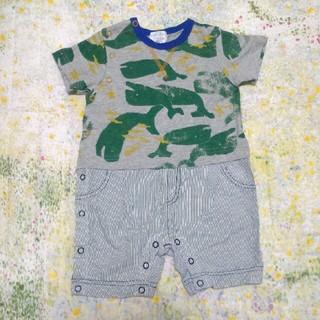 ハッカベビー(hakka baby)のMサイズ クジラロンパース(ロンパース)