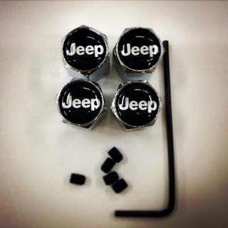 ジープ(Jeep)のjeep タイヤ バルブ 4個セット 盗難防止ロックネジ付き(車外アクセサリ)