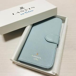 ランバンオンブルー(LANVIN en Bleu)の新品 ランバンオンブルー 手帳型スマホケース パスケース★ランバン リュック(iPhoneケース)