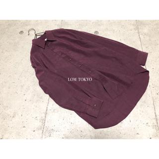 [used]wine red plaid shirt.(シャツ)