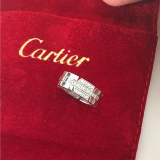 カルティエ(Cartier)のカルティエ タンク ダイヤ リング WG 47(リング(指輪))