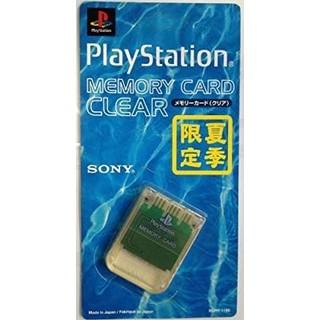 プレイステーション(PlayStation)の メモリーカード クリア  (夏期限定) PS 未開封‼️(家庭用ゲーム本体)