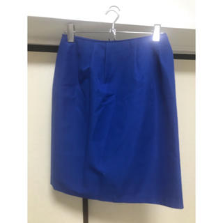 ジェットセット(JET SET)の青いタイトスカート(ひざ丈スカート)