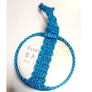 手編み ヨガバームホルダー45 色⚠シアンブルー(ヨガ)