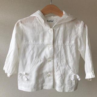 パンプルムース(Pample Mousse)のフード付きシャツ 春夏 女の子90(ブラウス)