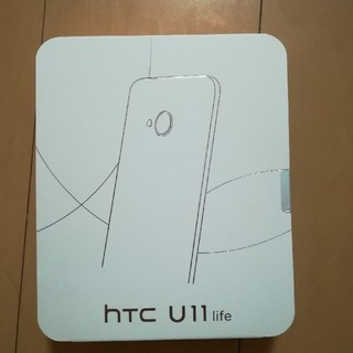 ハリウッドトレーディングカンパニー(HTC)の【新品未開封】HTC U11life ブルー おサイフ携帯 防水 SIMフリー(スマートフォン本体)
