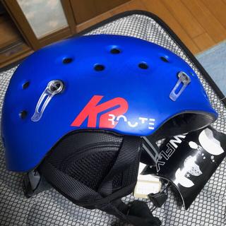 ケーツー(K2)のk2(ケーツー) ROUTE ヘルメット Lサイズ 青色 スキー・スノーボード(ウエア/装備)