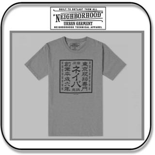 ネイバーフッド(NEIGHBORHOOD)のネイバーフッド 半袖 漢字ロゴ「ネイバ」Tシャツ グレー M(Tシャツ/カットソー(半袖/袖なし))