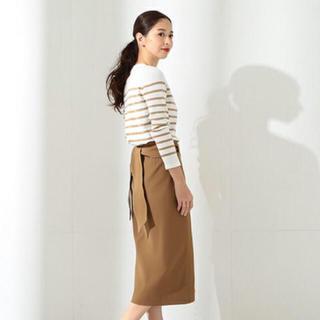 デミルクスビームス(Demi-Luxe BEAMS)のカシュクールバックリボンスカート(ひざ丈スカート)
