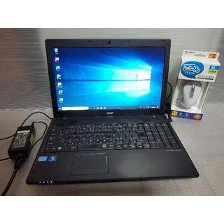 エイサー(Acer)のacer ノートパソコン Windows10 エクセル、ワード、DVDマルチ☆(ノートPC)