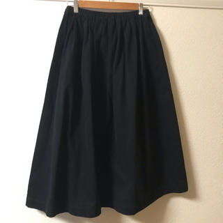 サンバレー(SUNVALLEY)のSUNVALLEYツイルスカート黒(ロングスカート)