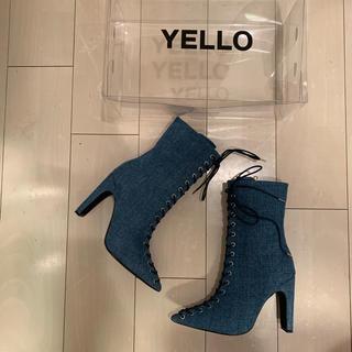 イエローブーツ(Yellow boots)のyellow デニム編み上げブーツ(ブーツ)