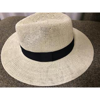 イーブス(YEVS)の麦わら帽子 ストローハット ホワイト(麦わら帽子/ストローハット)