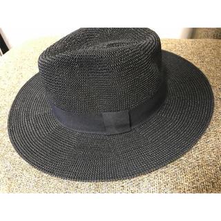 イーブス(YEVS)の麦わら帽子 ストローハット ブラック(麦わら帽子/ストローハット)