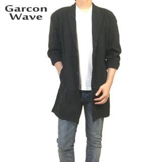 ギャルソンウェーブ(Garcon Wave)のギャルソンウェーブ 新品 チェスターコート コーディガン ブラック M(チェスターコート)