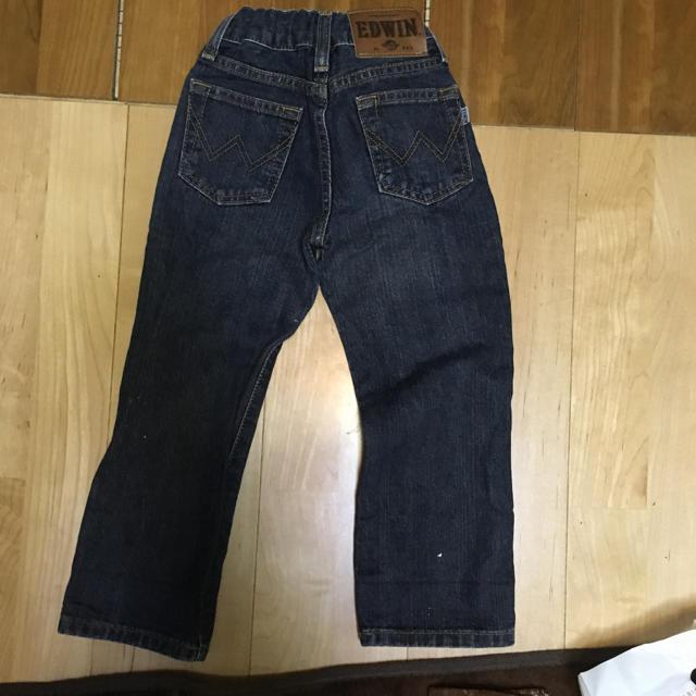 ジーパン 100サイズ EDWIN キッズ/ベビー/マタニティのキッズ服 男の子用(90cm~)(パンツ/スパッツ)の商品写真