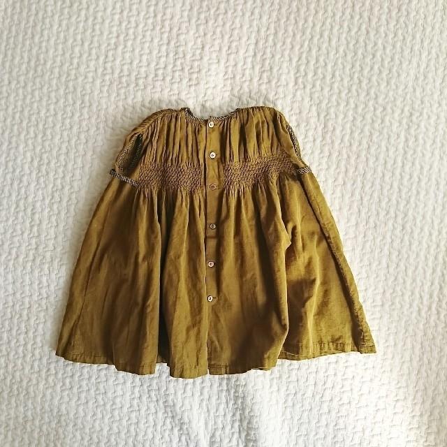 Bonpoint(ボンポワン)のbonton コーデュロイワンピース 2a キッズ/ベビー/マタニティのキッズ服 女の子用(90cm~)(ワンピース)の商品写真