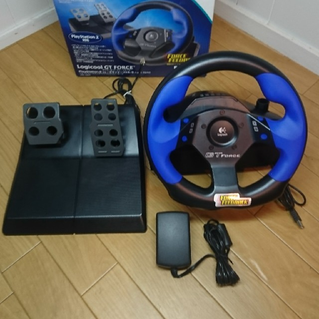 PlayStation2(プレイステーション2)のPS2 ステアリングコントローラー エンタメ/ホビーのテレビゲーム(その他)の商品写真