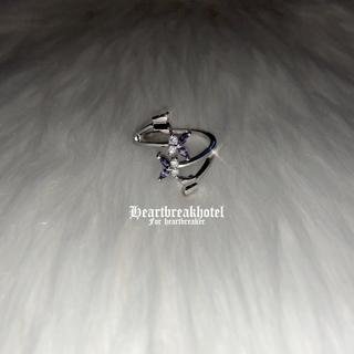 ♱ Vintage Silver Angel Purple ring(リング(指輪))