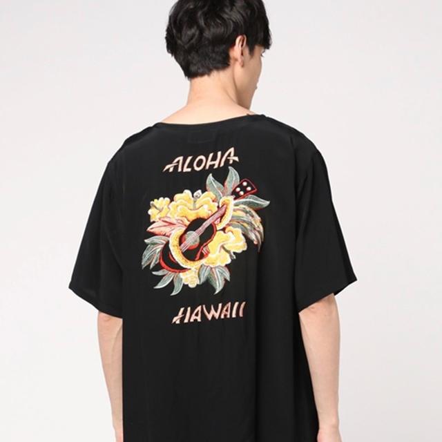 東洋エンタープライズ(トウヨウエンタープライズ)の東洋テーラー レーヨン シャツ Lサイズ アロハ刺繍 メンズのトップス(シャツ)の商品写真