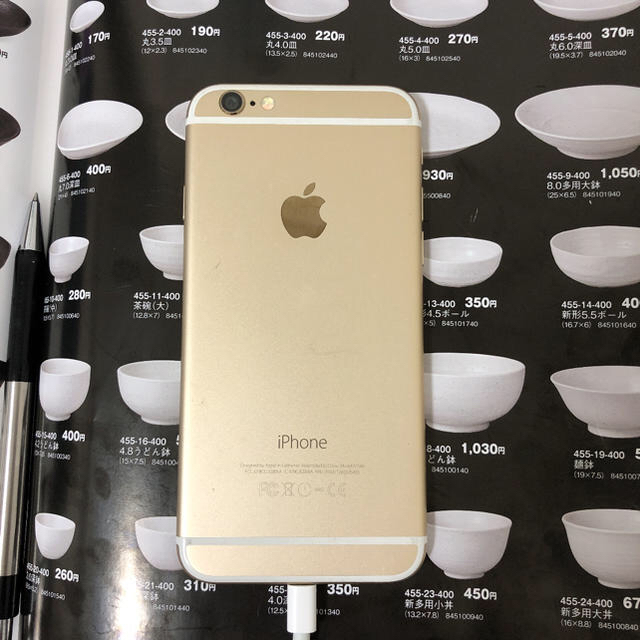 iPhone(アイフォーン)のiphone6 docomo 16GB スマホ/家電/カメラのスマートフォン/携帯電話(スマートフォン本体)の商品写真