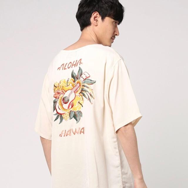 東洋テーラー レーヨン シャツ Lサイズ アロハ刺繍 メンズのトップス(シャツ)の商品写真