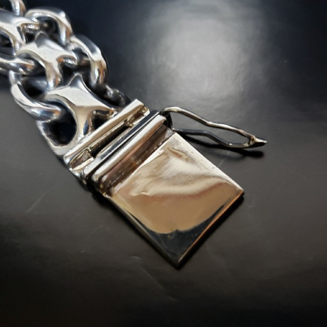 【即発・送料無料】 入手困難 silver925 インフィニティ ブレスレット メンズのアクセサリー(ブレスレット)の商品写真