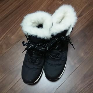 ソレル(SOREL)のSOREL スノーブーツ 黒 レディース 25cm(ブーツ)