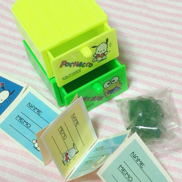 1997年 ポチャッコ ケロッピー 引き出し エンタメ/ホビーのおもちゃ/ぬいぐるみ(キャラクターグッズ)の商品写真